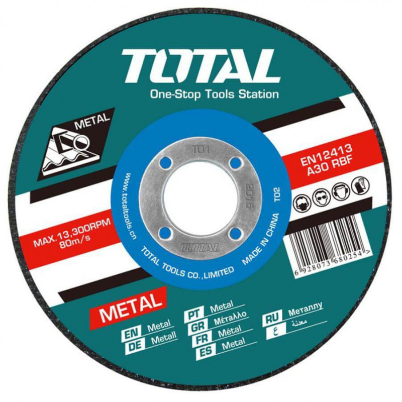 "Disco de Corte Metal 5"" 1.2MM Total Tools TAC2211253"