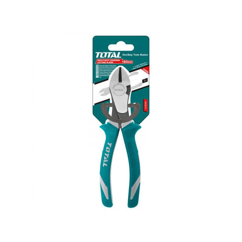 "Alicate de Corte Diagonal Cuello Largo 7"" Industrial Total Tools THT27716S"