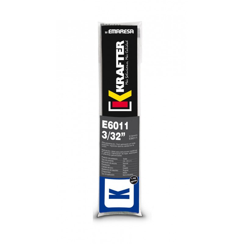 """Electrodo 5/32"""" (4.0mm) 1Kg E 6011 Krafter 4420000060114"""