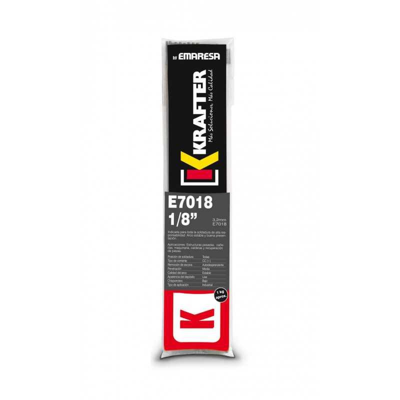 """Electrodo 1/8"""" (3.2mm) 1Kg E 7018 Krafter 4420000070183"""