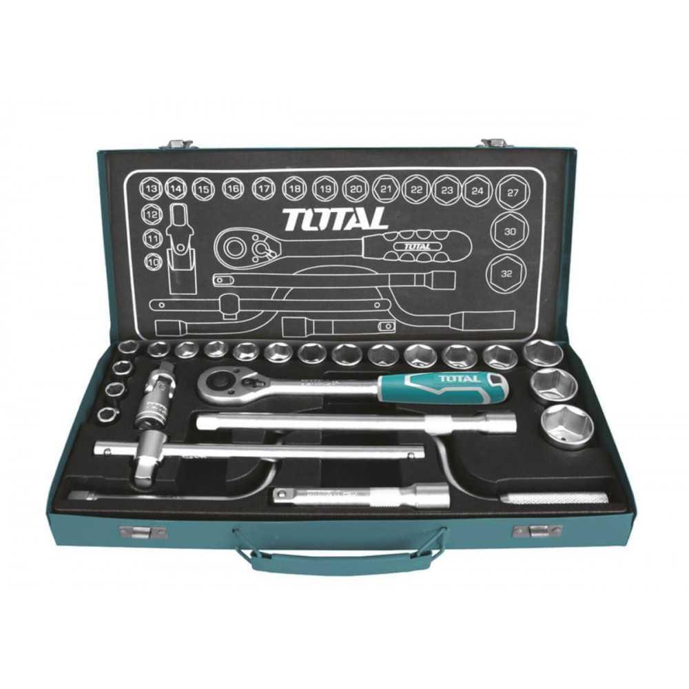 Juego de Dados 24 piezas + Chicharra Total Tools THT141253