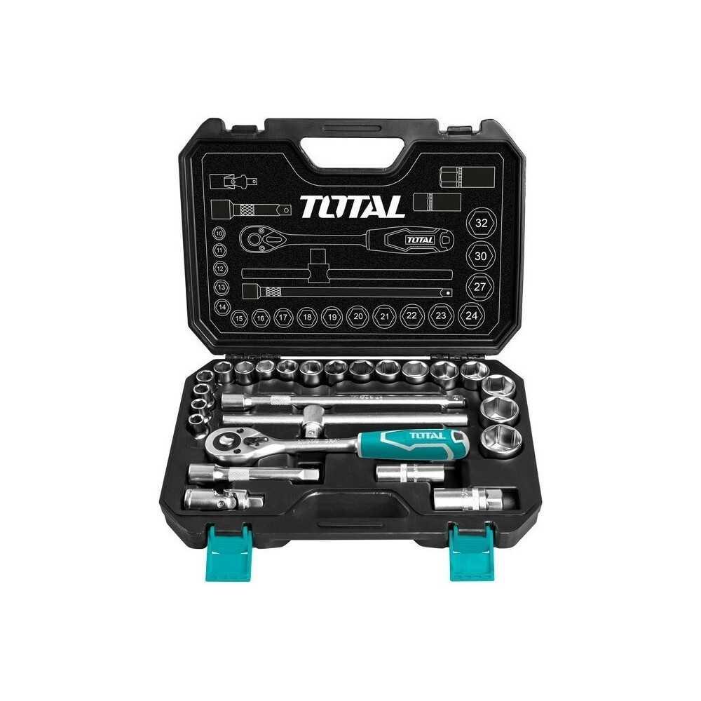 Juego de Dados 25 Piezas + Chicharra Total Tools THT121251