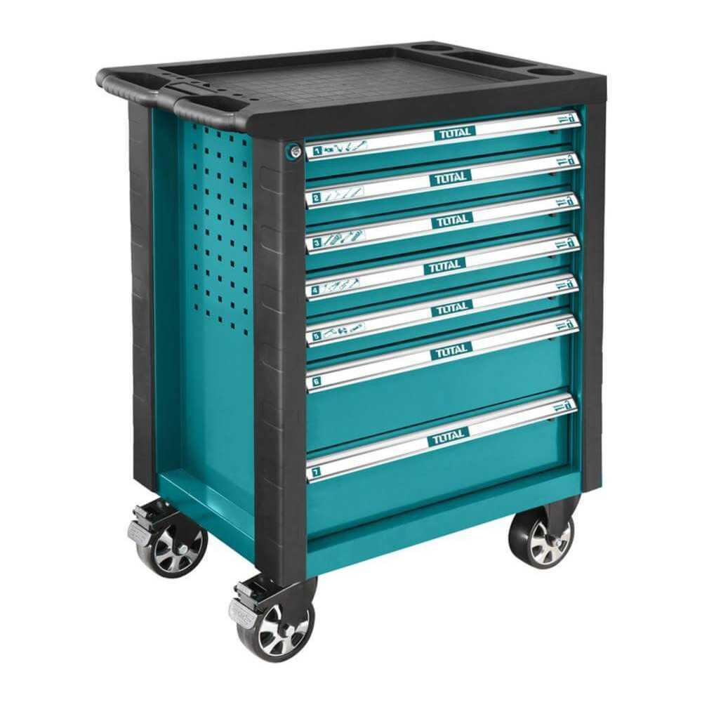Carro Porta herramientas 7 Cajones 162 Piezas Total Tools THPTCS71621