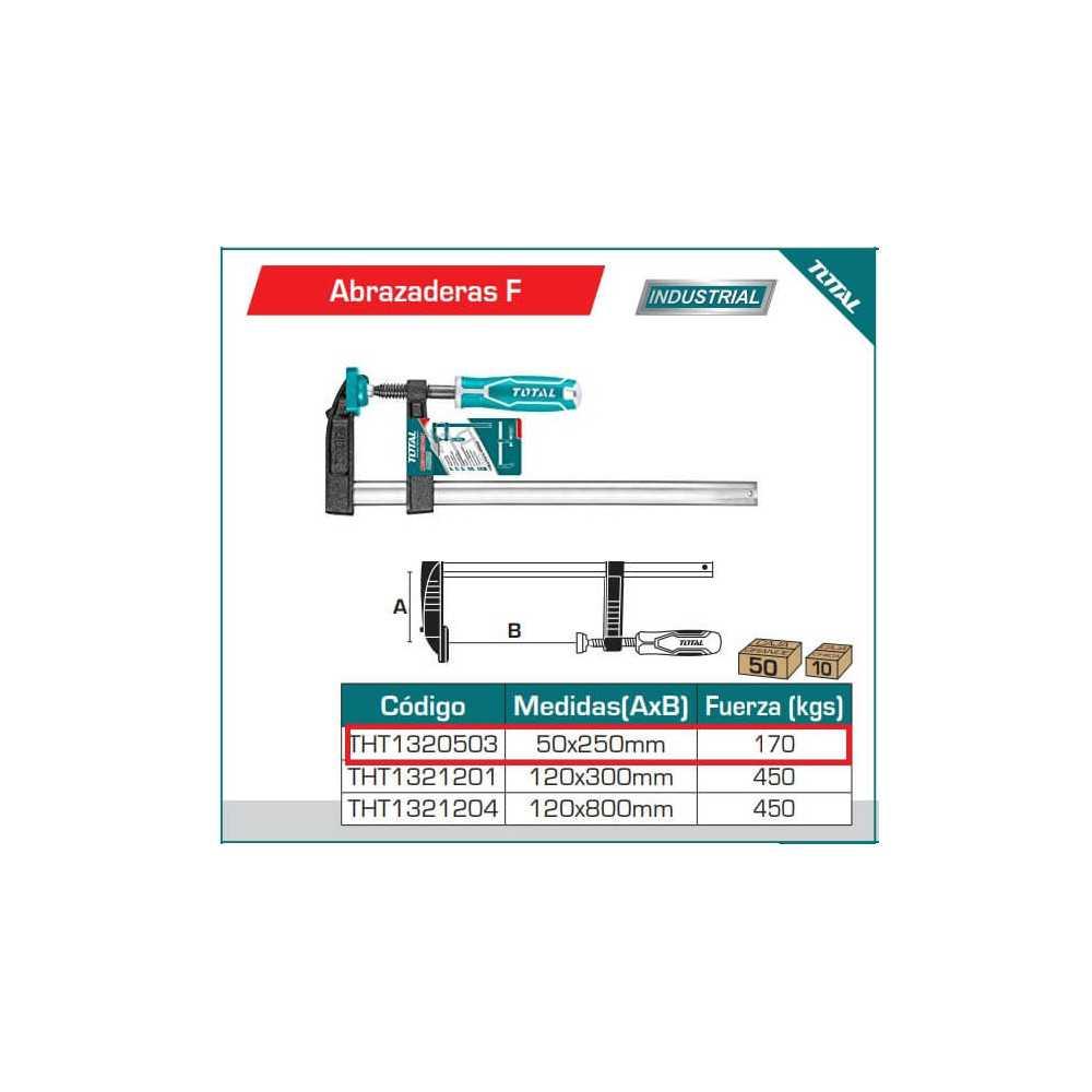 Prensa 50 X 250 MM 170 KG Total Tools THT1320503