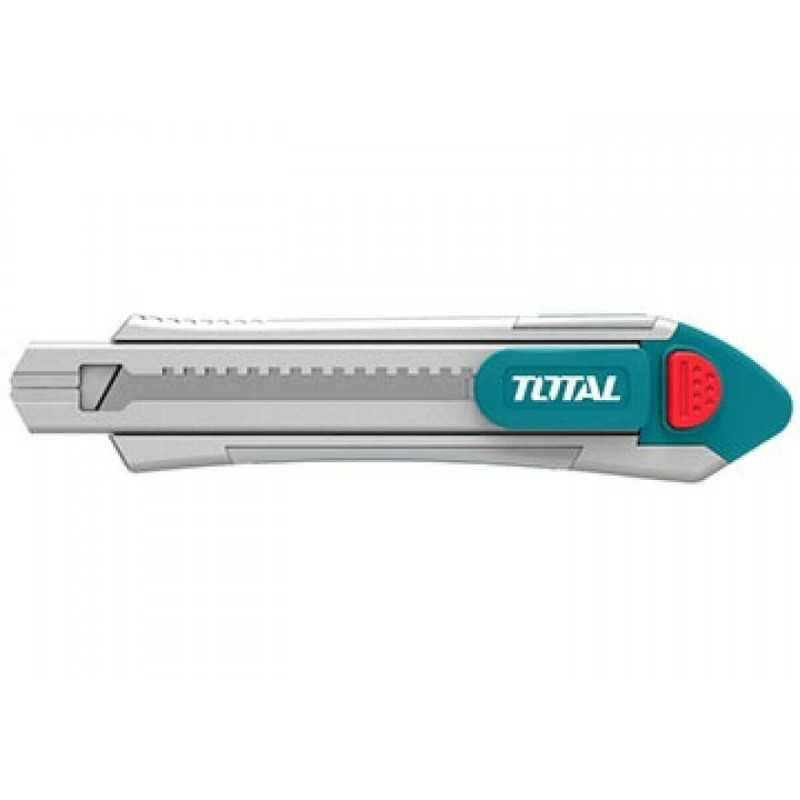 Cuchillo Cartonero Industrial 18MM X 100MM con 6 pzs de cuchillas Total Tools TG5121806