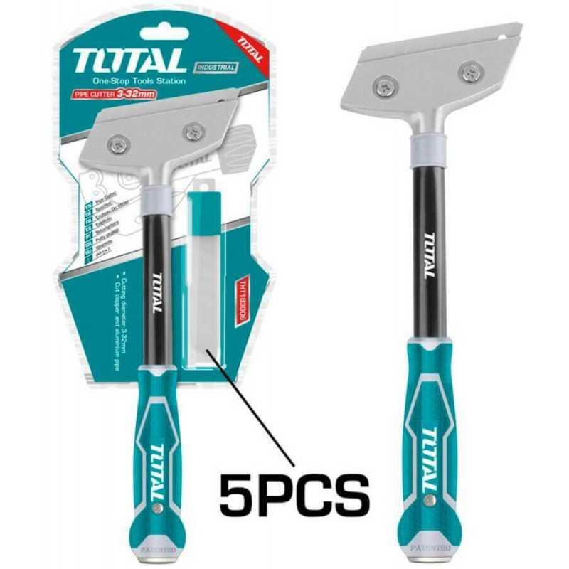 Raspador de Metal 18mm x 100mm con 5 pzs de cuchillas Total Tools THT183006