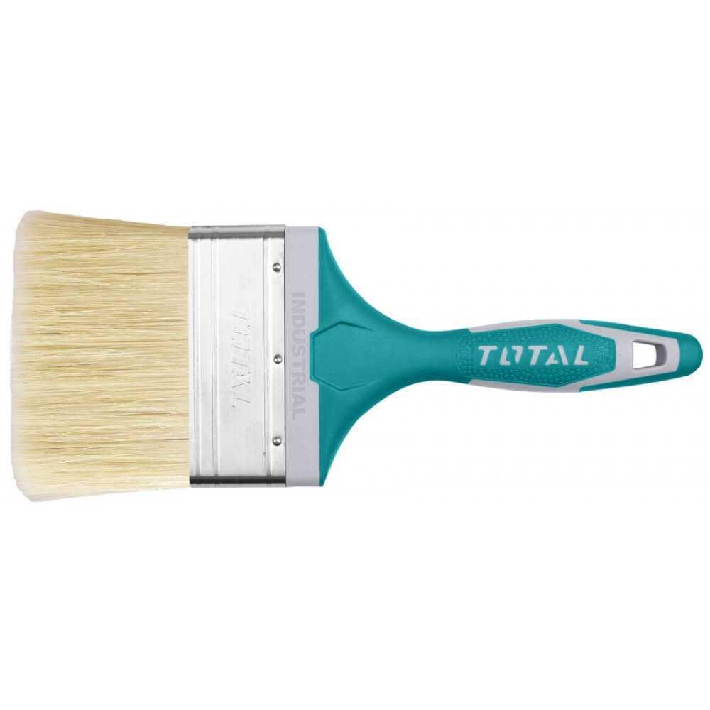 """Brocha 4"""" Mango de Plástico Recubierto Total Tools THT84046"""