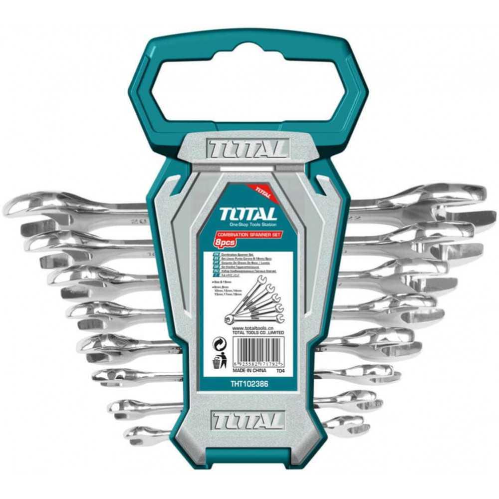 Juego de Llaves Punta Punta 8 Piezas Total Tools THT102386