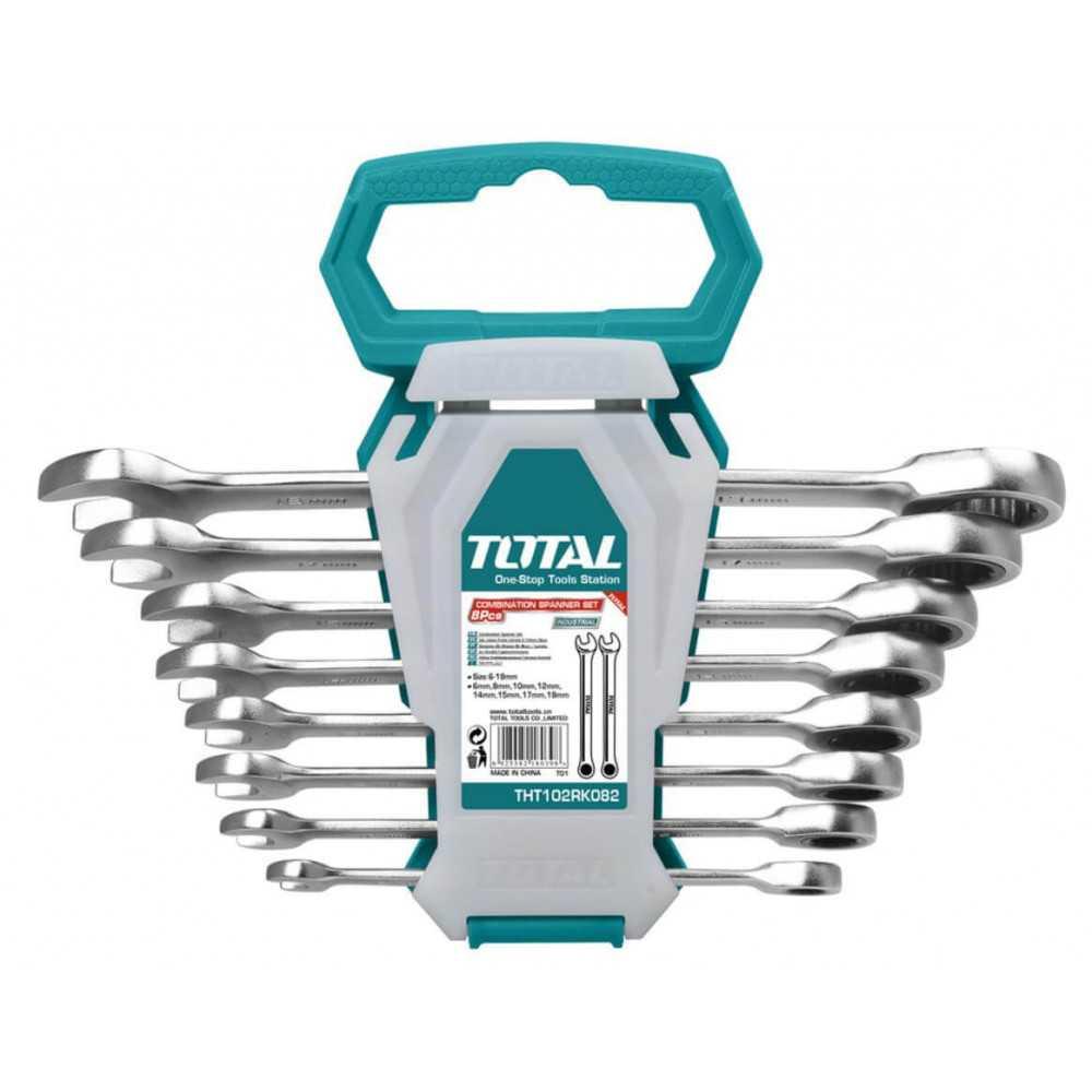 Juego de Llaves Combinadas 8 Piezas Total Tools THT102RK086
