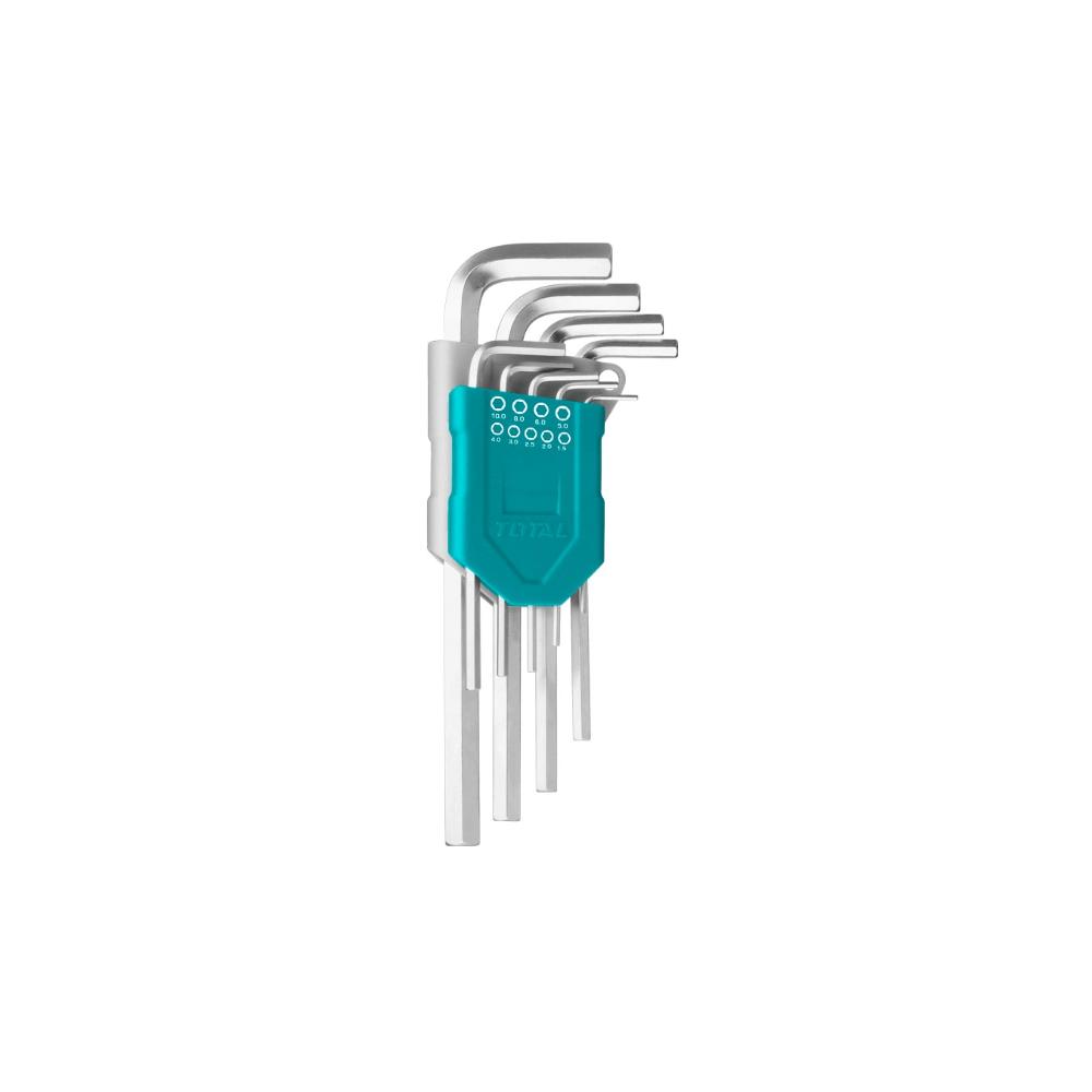 Juego de Llaves Allen Hexagonales 9 Piezas Total Tools THT106191