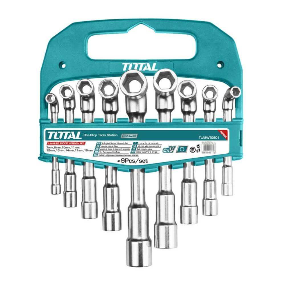Juego de Dados en Forma De L 9 Piezas Total Tools TLASWT0901