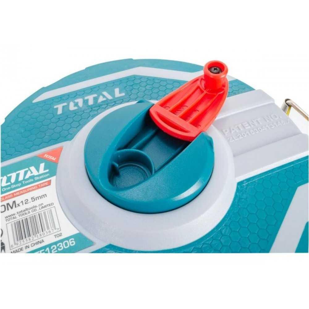 Huincha de Medir 30MT x 12.5MM Mango Ergonómico Total Tools TMT11306