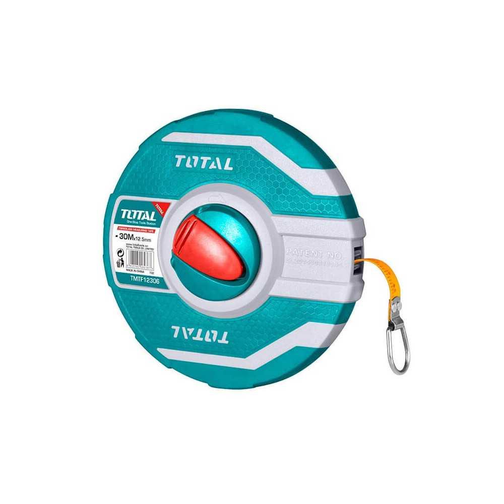 Huincha de Medir De Fibra De Vidrio 30MT x 12.5MM Total Tools TMTF12306