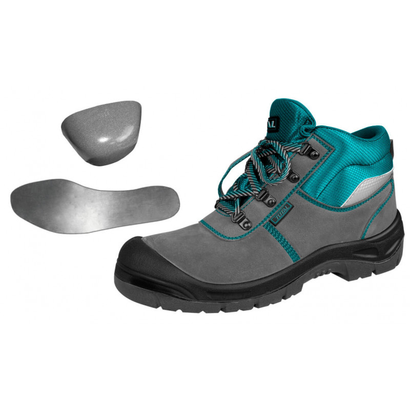 Zapatos de Seguridad Dieléctrico Punta Y Planta De Acero Talla 40 Total Tools TSP201S1P.40