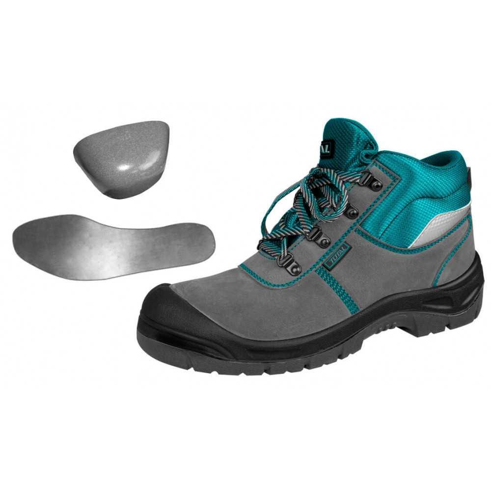 Zapatos de Seguridad Dieléctrico Punta Y Planta De Acero Talla 43 Total Tools TSP201S1P.43