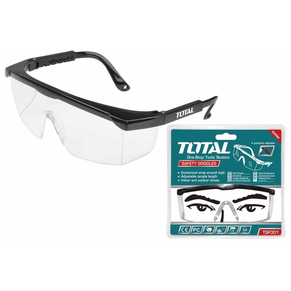 Lente de Seguridad Transparente 4 Posiciones Total Tools TSP301