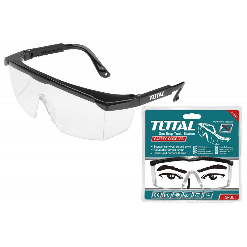 Lentes de Seguridad Transparentes 4 Posiciones Total Tools TSP301