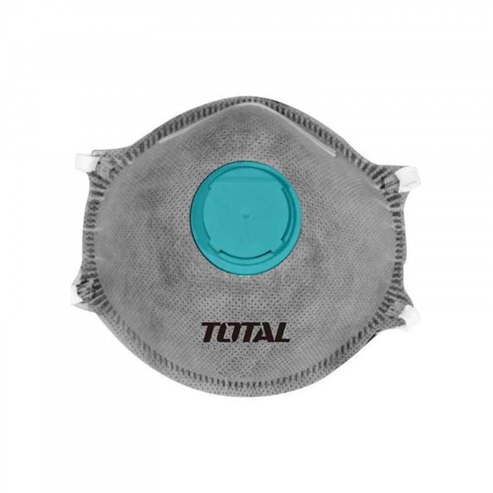 Mascarilla para Polvo Set 3 Piezas Con Válvula y Filtro De Carbono Tipo FFP2 Gris Total Tools TSP406