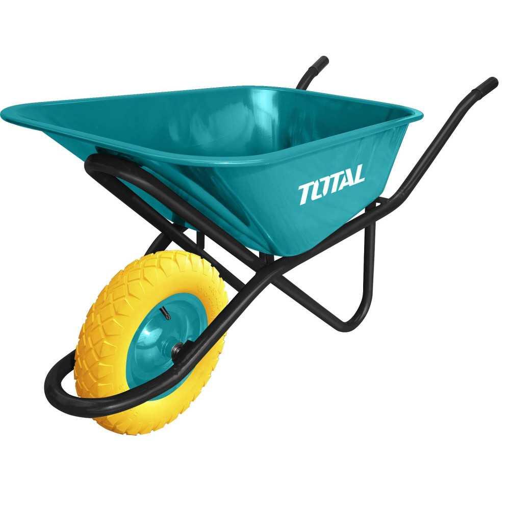 Carretilla 90 Litros Trabajo Pesado Total Tools THTWB64018GPU