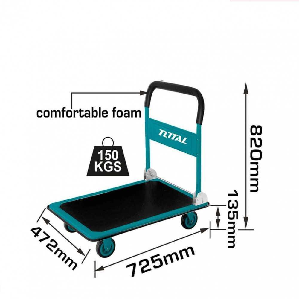 Carro de Carga Plegable 150 Kg Total Tools THTHP11502