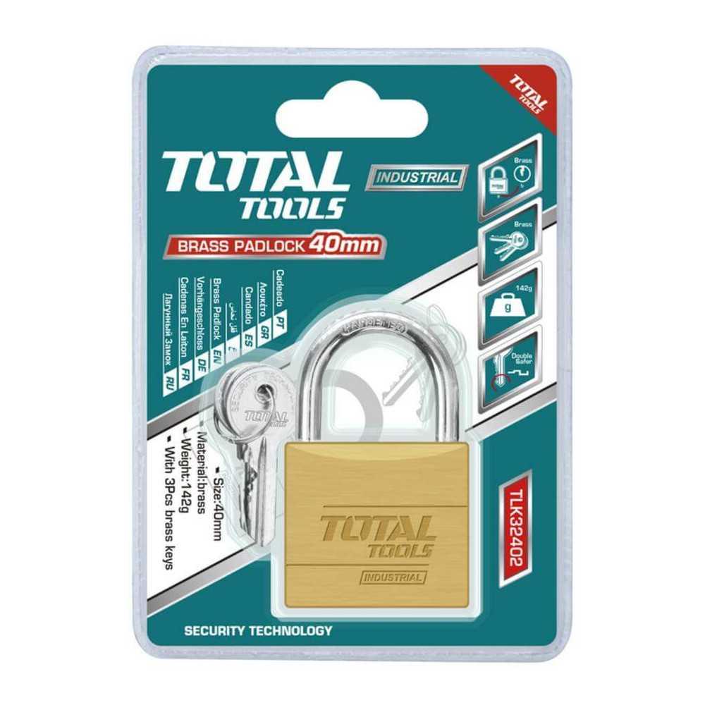 Candado 40 mm Con 3 Llaves Total Tools TLK32402