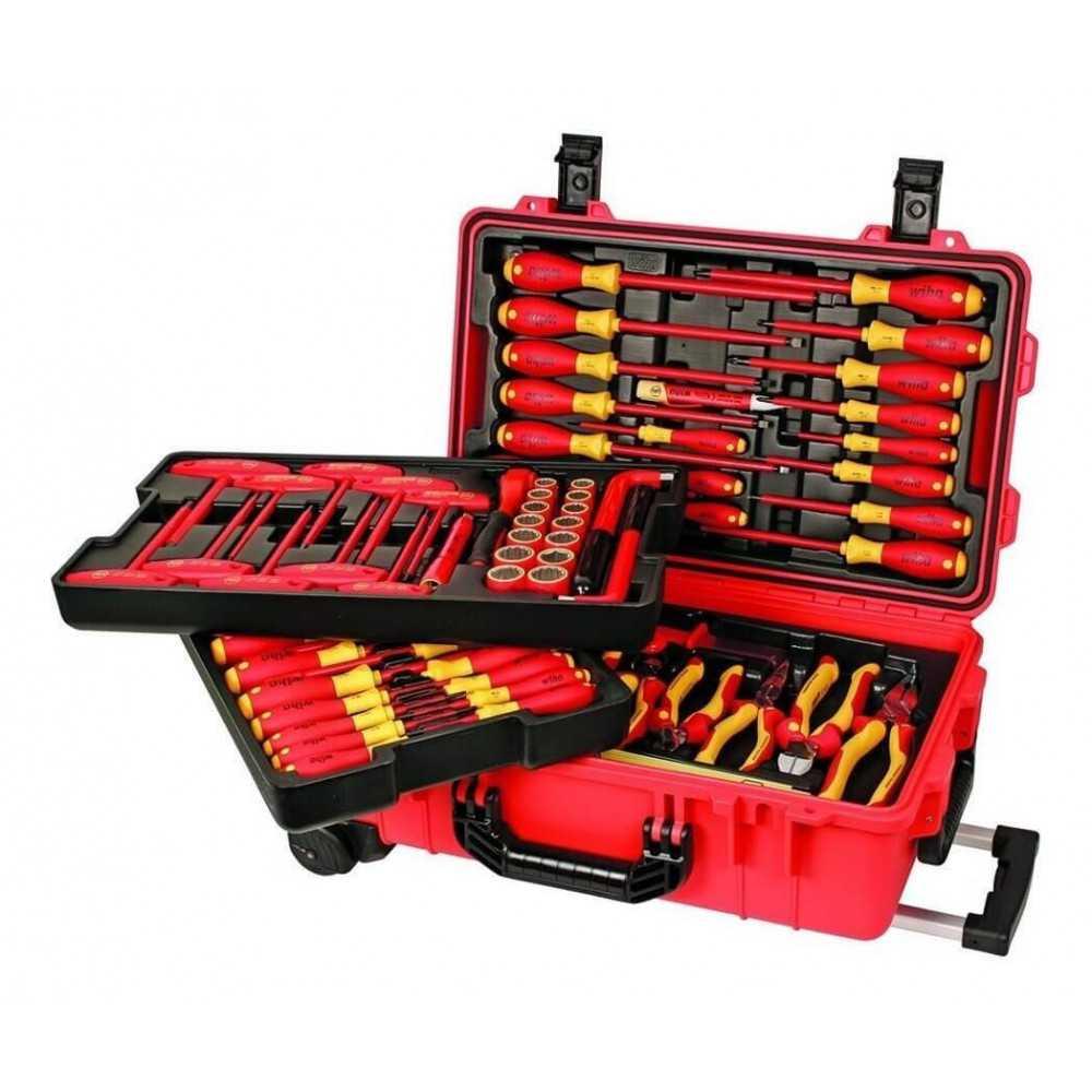 Caja de herramientas con 80 pzs Dieléctricas Wiha 32800