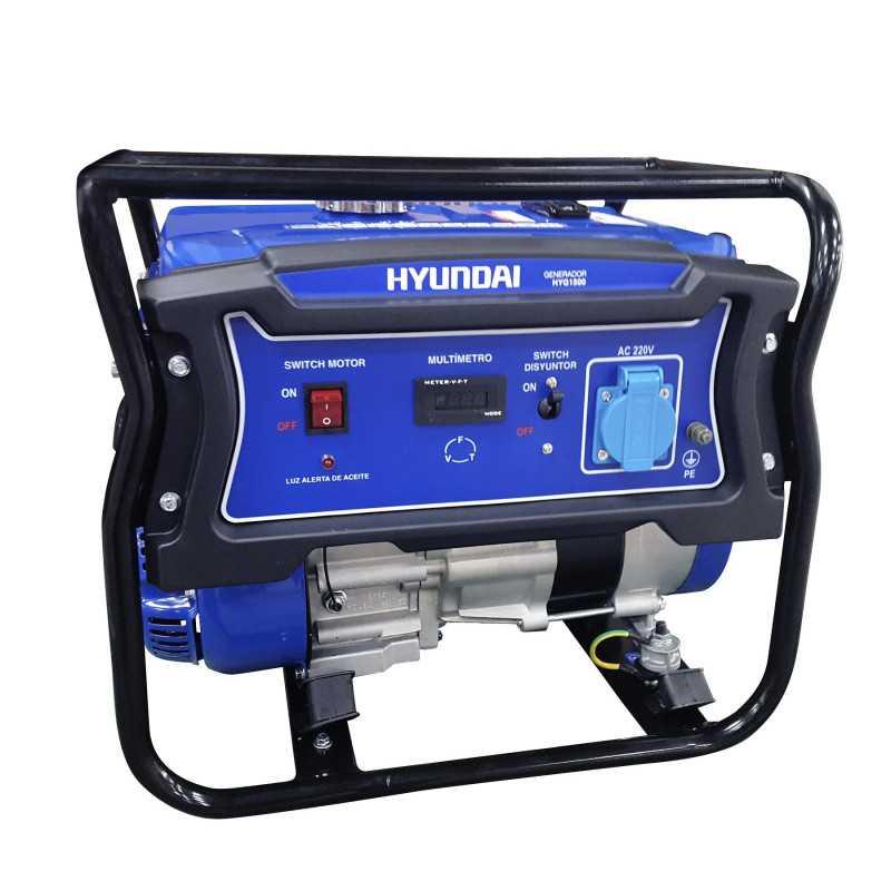 Generador Gasolina 0,9/1 Kva/Kw Partida manual monofásico Abierto HYUNDAI 82HYG1500