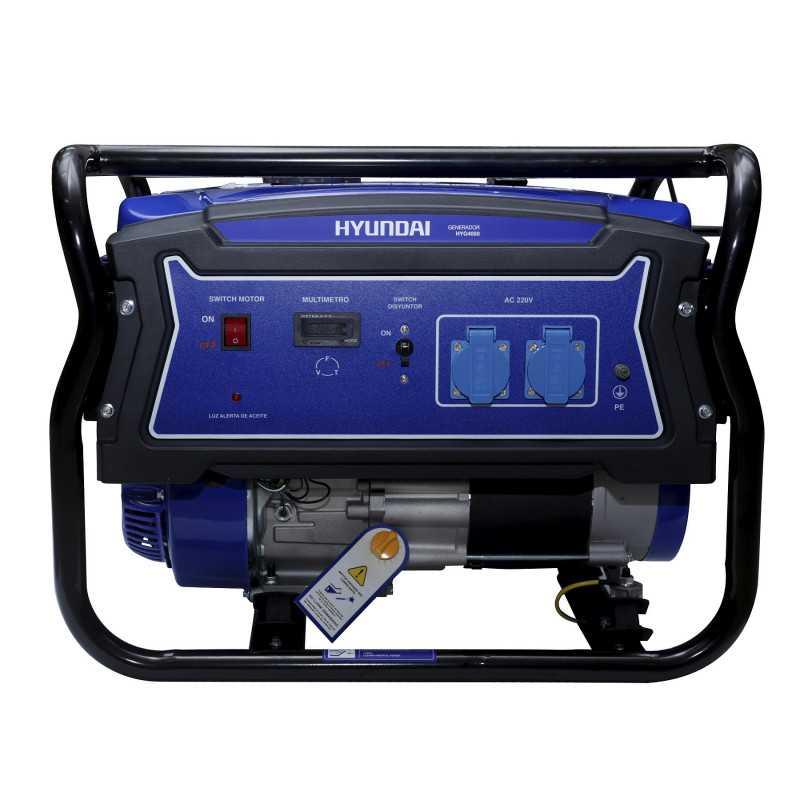 Generador Eléctrico Gasolina 2,5/2,8 Kw/Kva Partida manual monofásico Abierto HYUNDAI 82HYG4050