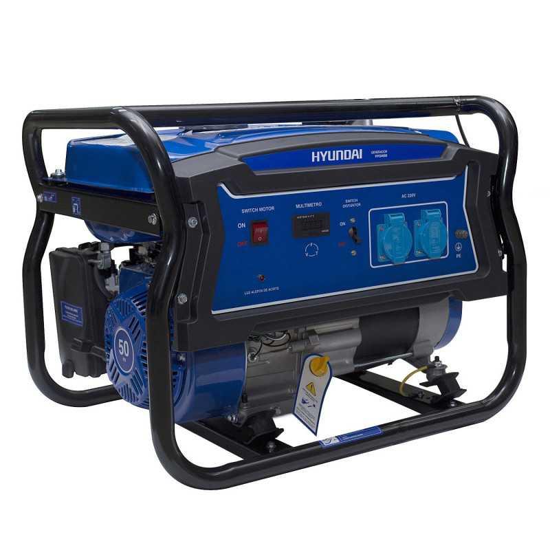 Generador Gasolina 2,5/2,8 Kw/Kva Partida manual monofásico Abierto HYUNDAI 82HYG4050