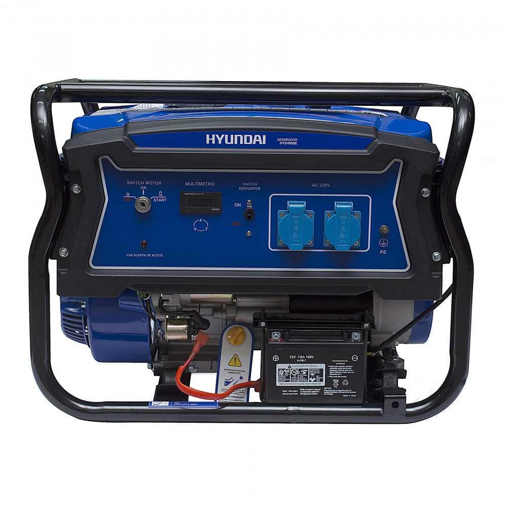 Generador Eléctrico Gasolina 3,2/3,5 Kw Partida eléctrica monofásico Abierto HYUNDAI 82HYG4950E
