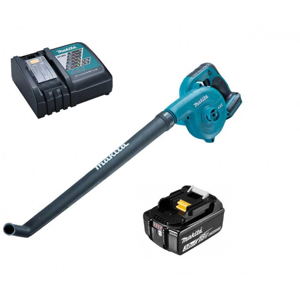 Soplador Inalámbrico 11.400 - 21.500 RPM + Cargador + Batería 18V Makita DUB183Z-1