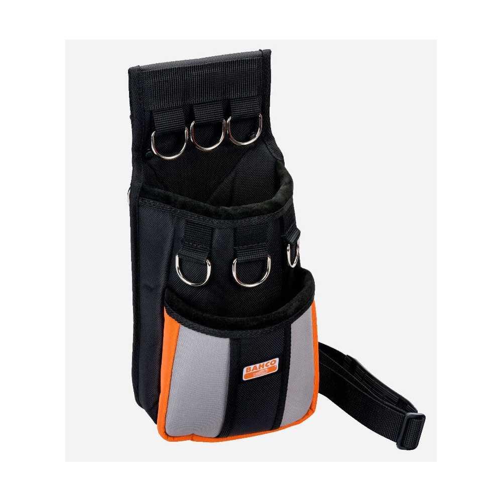 Bolso porta Herramientas con 2 bolsillos grandes y 6 anillas de seguridad Bahco 3875-MHP6