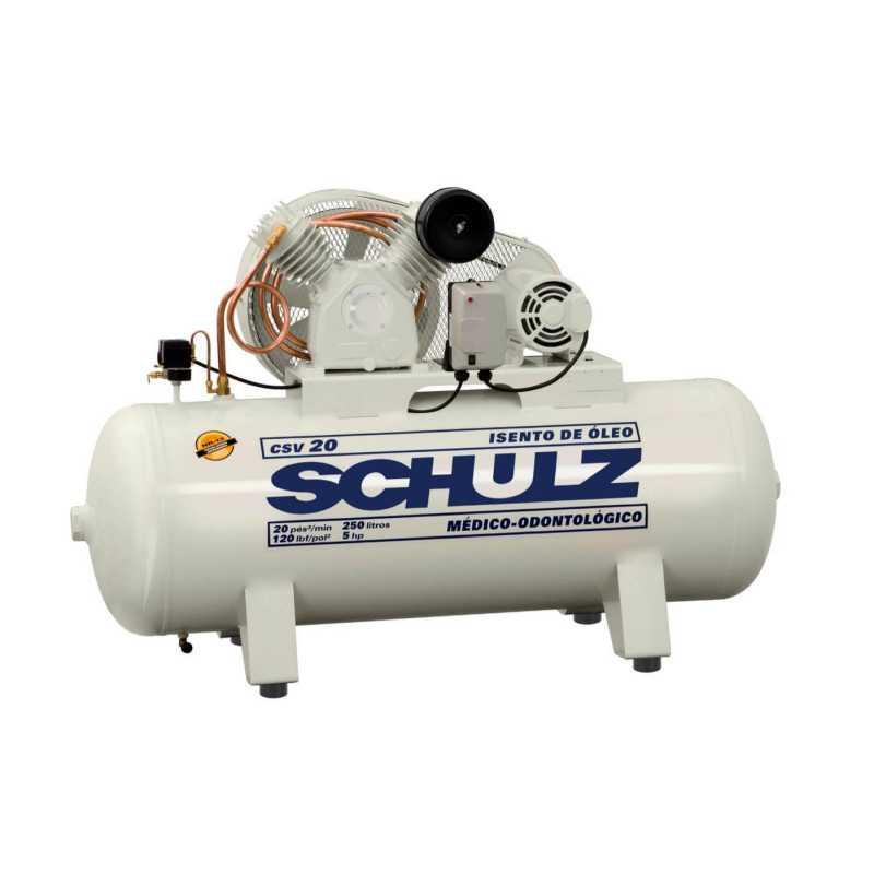 Compresor CSV-20/250L 5HP 380V Trifásico Sin Aceite Schulz 9327531-0