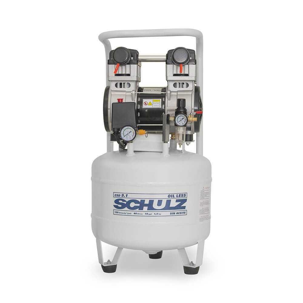 Compresor CSD-9.1/40L 1.5HP 220V Sin Aceite Schulz 9311342-0