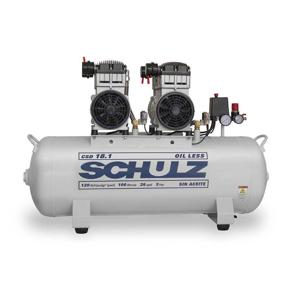 Compresor CSD-18.1/100L 3HP 220V Sin Aceite Schulz 9311329-0