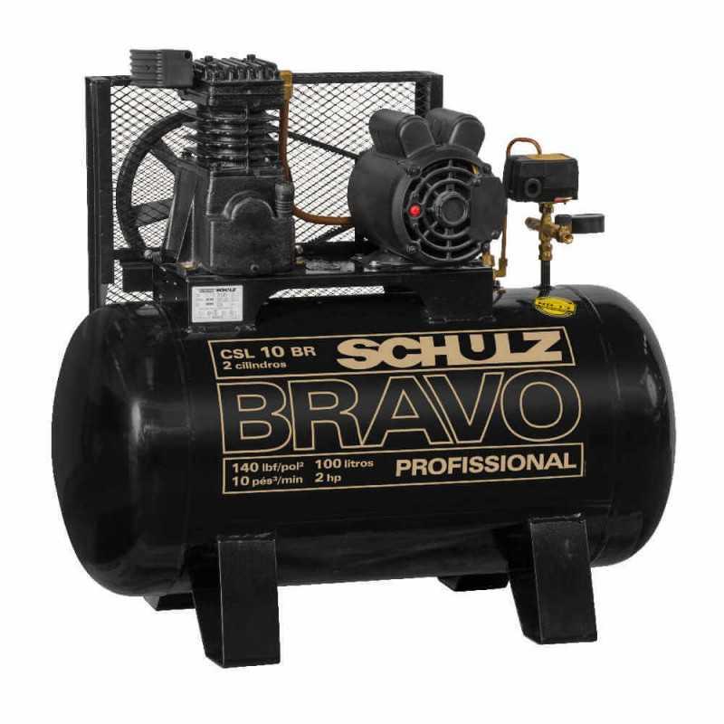 Compresor CSL-10BR/100L 2HP 220V Monofásico Bravo Schulz 9318051-0