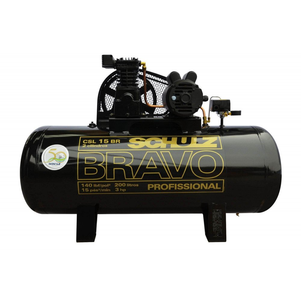 Compresor CSL-15BR/200L 3HP 220V Monofásico Bravo Schulz 9323397-0