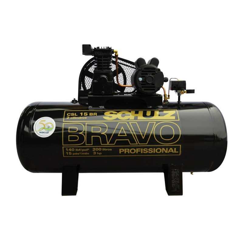 Compresor CSL-15BR/200L 3HP 380V Trifásico Bravo Schulz 9323396-0