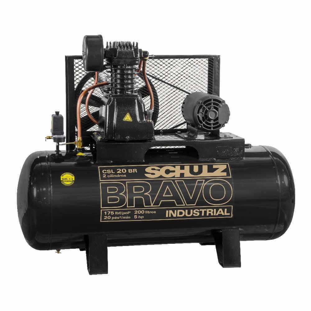 Compresor CSL-20BR/250L 5HP 380V/660V Trifásico Bravo Schulz 9318247-0