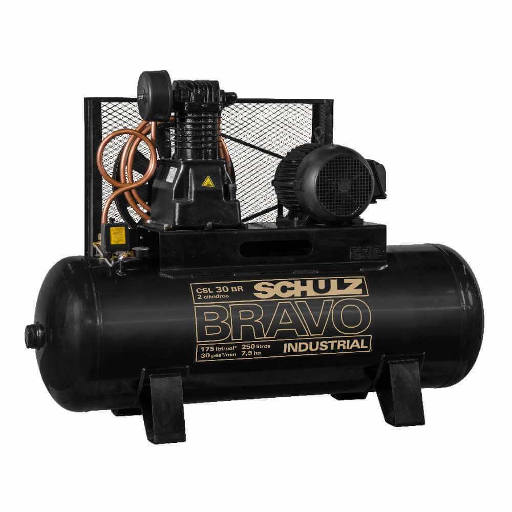 Compresor CSL-30BR/350L 7.5HP 380V/660V Trifásico Bravo Schulz 9318245-0