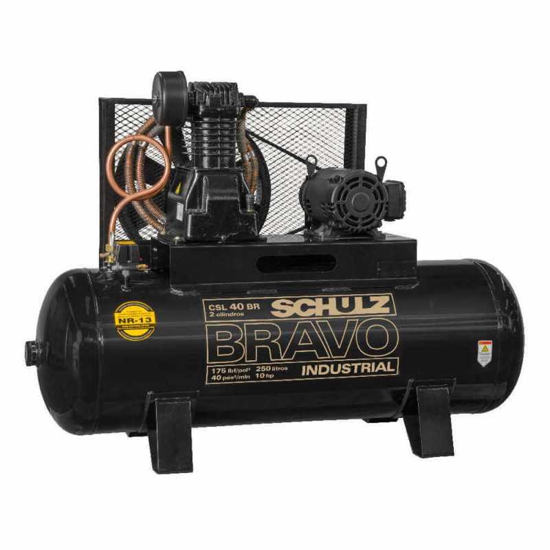 Compresor CSL-40BR/350L 10 HP 380V/660V Trifásico Bravo Schulz 9318246-0