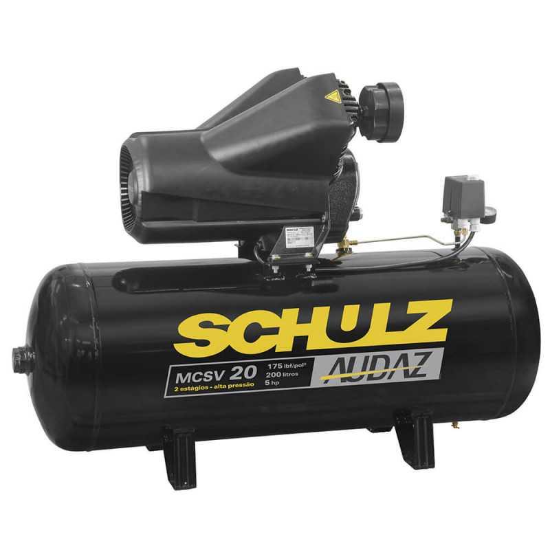 Compresor MCSV-20/200L Alta Presión 5HP 380V Trifásico Schulz 9327552-0