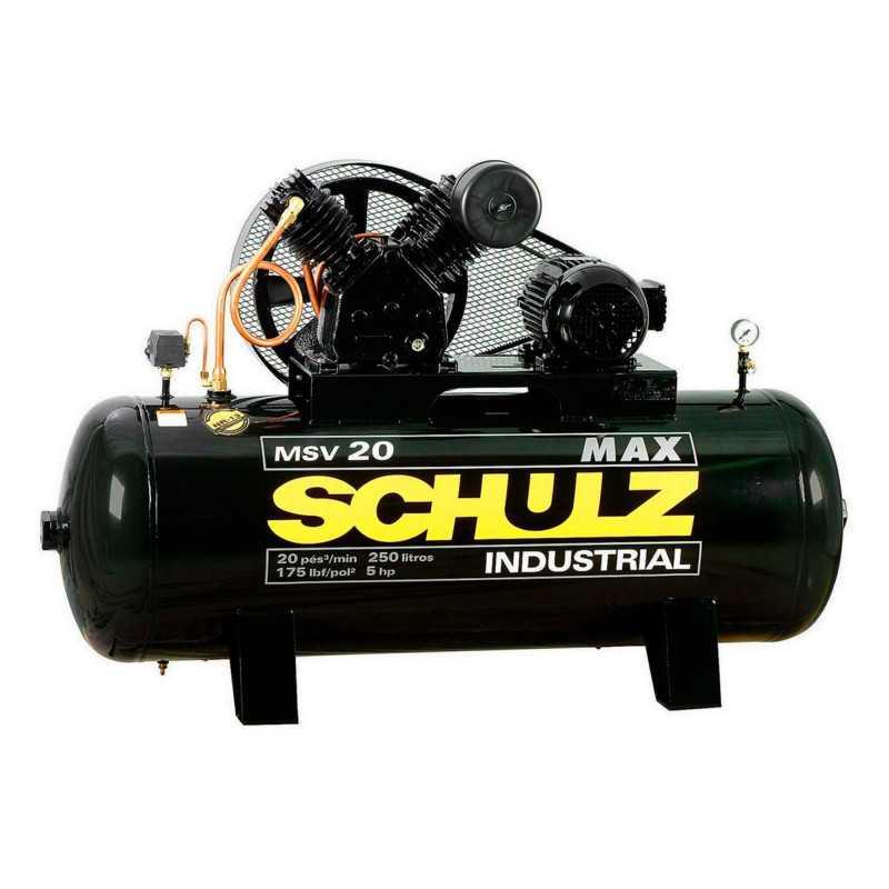 Compresor MSV-20MAX/250L 5HP 380V Trifásico Schulz 9327279-0