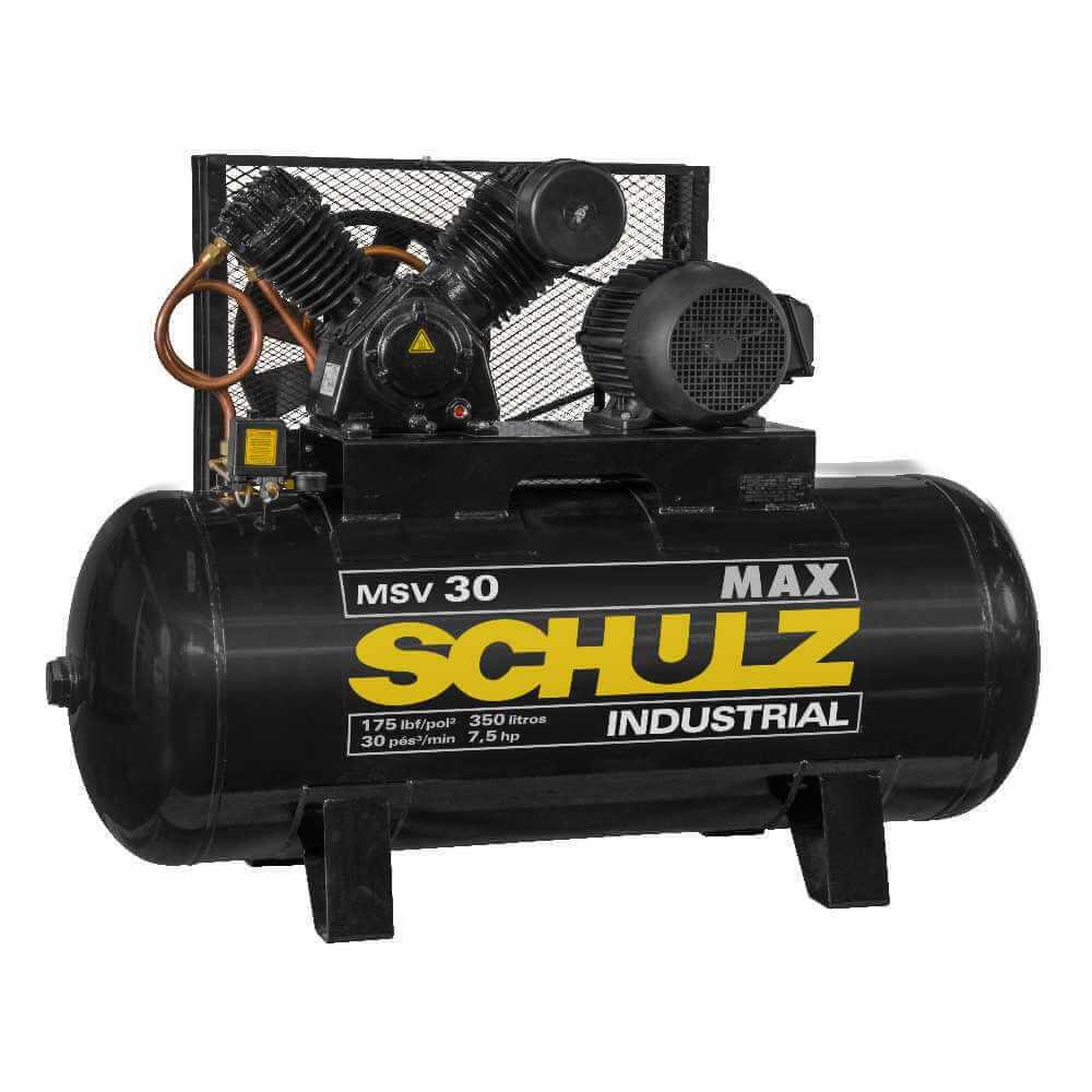 Compresor MSV-30MAX/350L 7.5HP 380V Trifásico Schulz 9331307-0