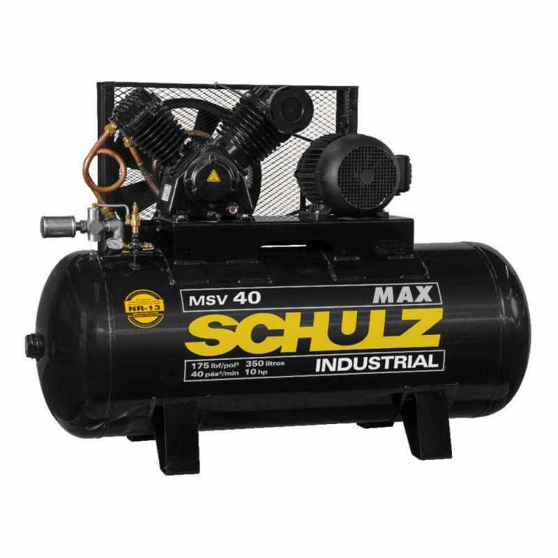 Compresor de aire MSV-40MAX/350L 10HP 380V/660V Trifásico Schulz 9337013-0