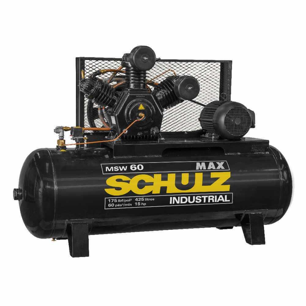Compresor MSW-60MAX/425L 15HP 380V/660V Trifásico Schulz 9343489-0