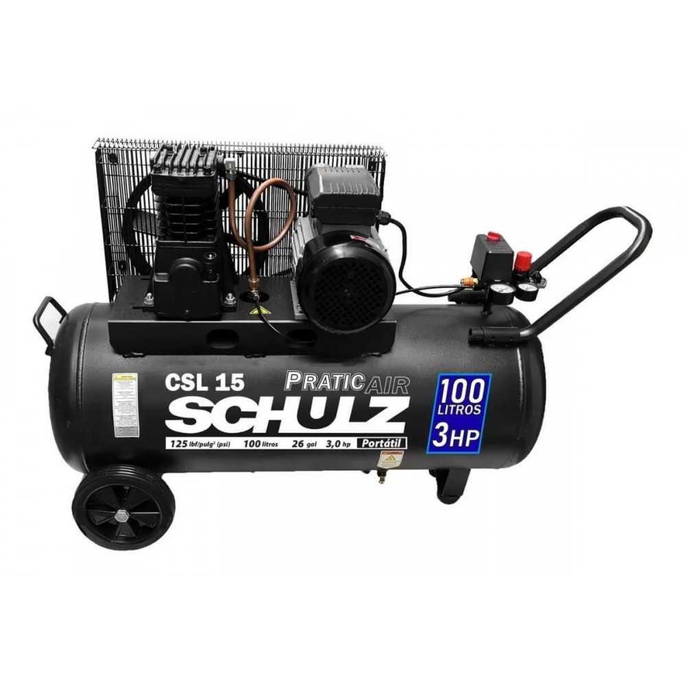 Compresor de aire CSL-15/100L 3HP 220V Pratic Air Schulz 9313426-0