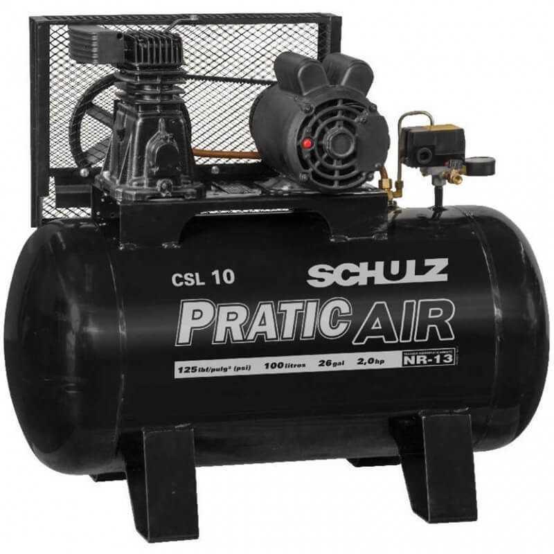 Compresor de aire CSL-10/100L 2HP 220V Pratic Air Schulz 9318138-0
