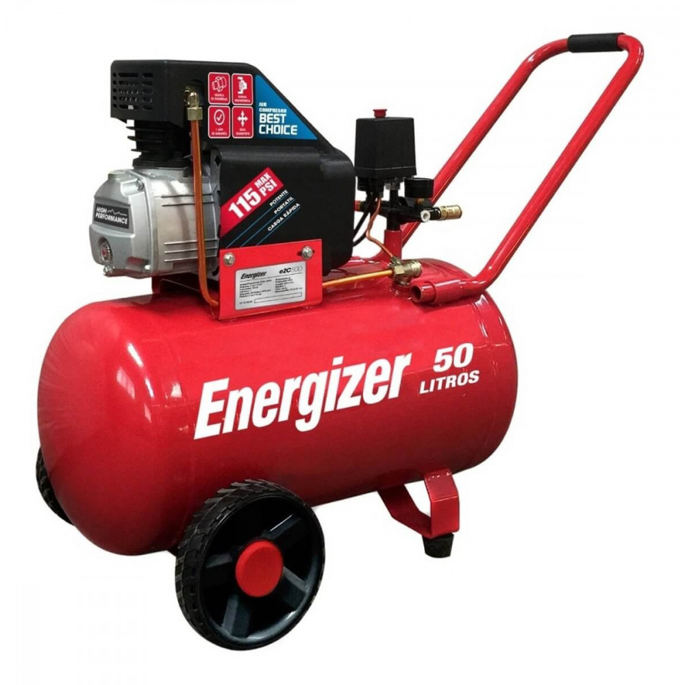 Compresor de Aire 2.5HP 50L 220V Monofásico Energizer EZC50D