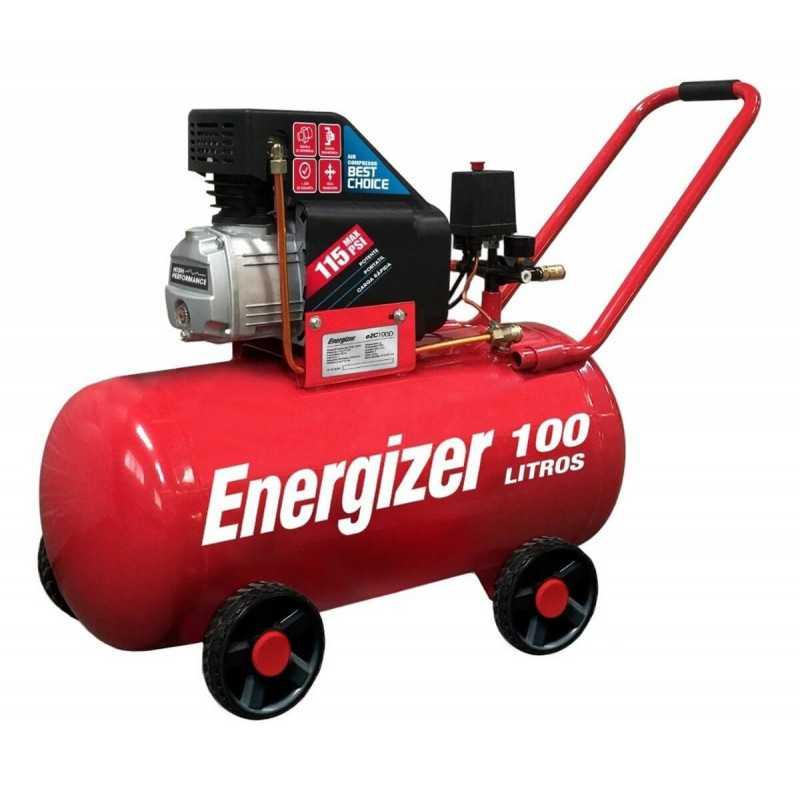 Compresor de Aire 3HP 100L 220V Monofásico Energizer EZC100D